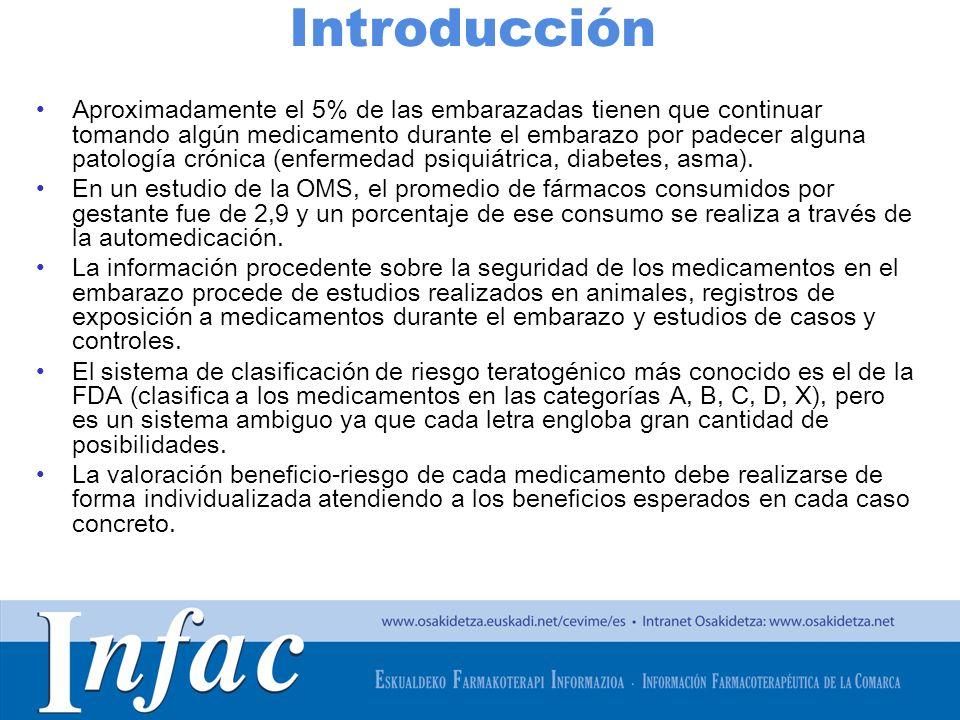 http://www.osakidetza.euskadi.net Introducción Aproximadamente el 5% de las embarazadas tienen que continuar tomando algún medicamento durante el emba