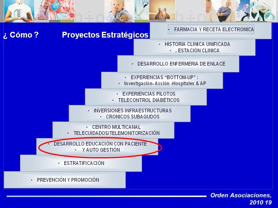 Orden Asociaciones, 2010 19 ¿ Cómo ? Proyectos Estratégicos