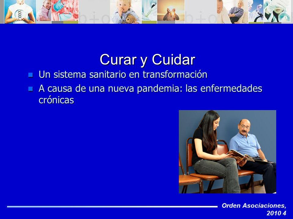 Orden Asociaciones, 2010 4 Curar y Cuidar n Un sistema sanitario en transformación n A causa de una nueva pandemia: las enfermedades crónicas