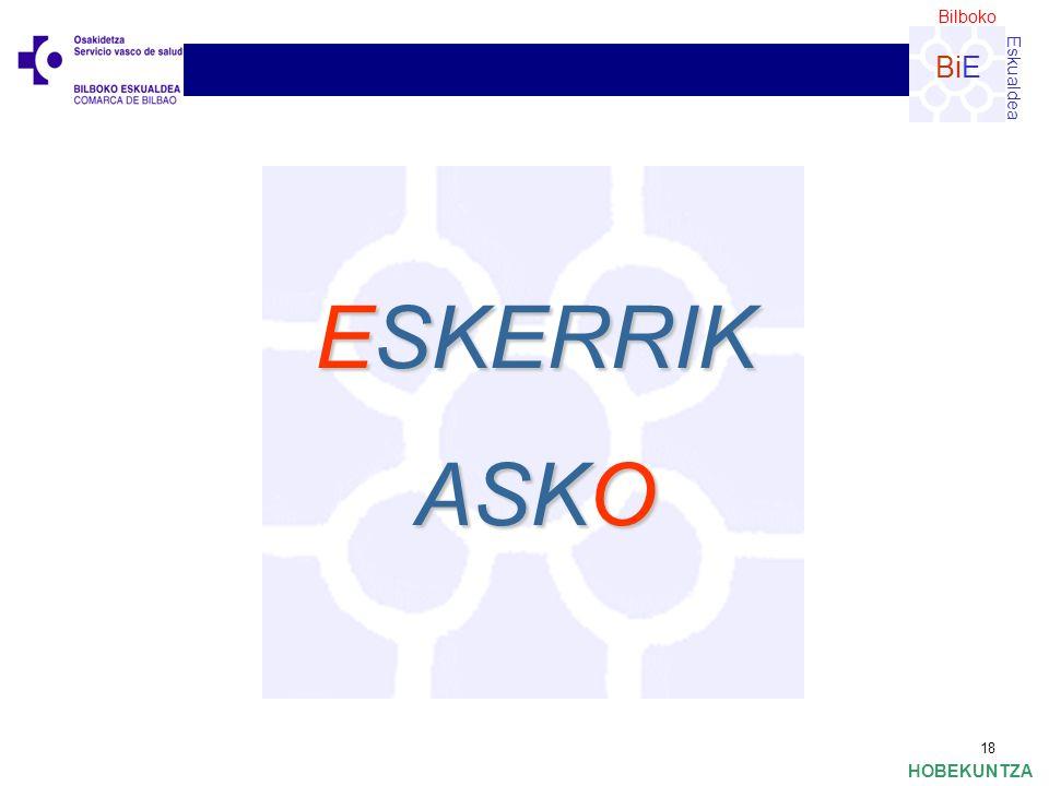 Bilboko Eskualdea BiE HOBEKUNTZA 18 ESKERRIK ASKO