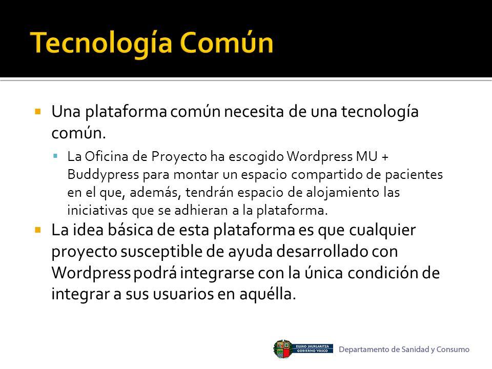 Una plataforma común necesita de una tecnología común.