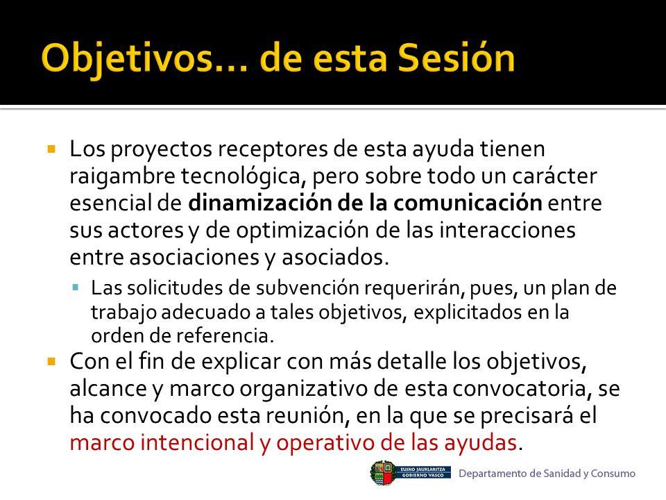 inserción El objetivo esencial de ese capítulo de la ayuda (comunicación digital interactiva) es procurar la inserción de las asociaciones y de sus asociados en una plataforma de comunicación, basada en tecnología abierta, en la que se favorezcan e impulsen los nuevos modos y comportamientos digitales de interacción.