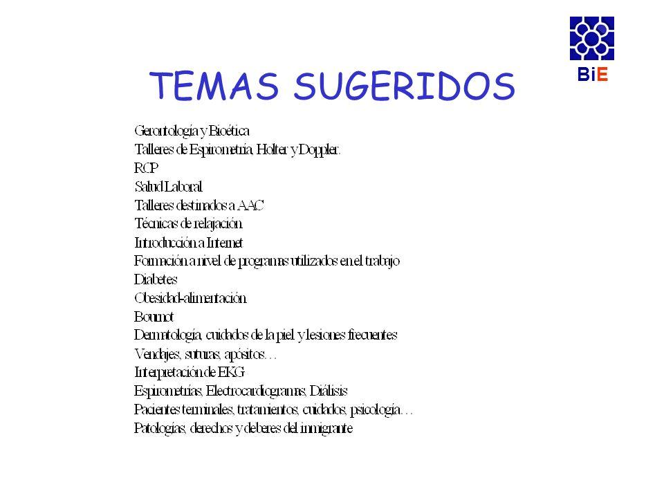 BiE TEMAS SUGERIDOS