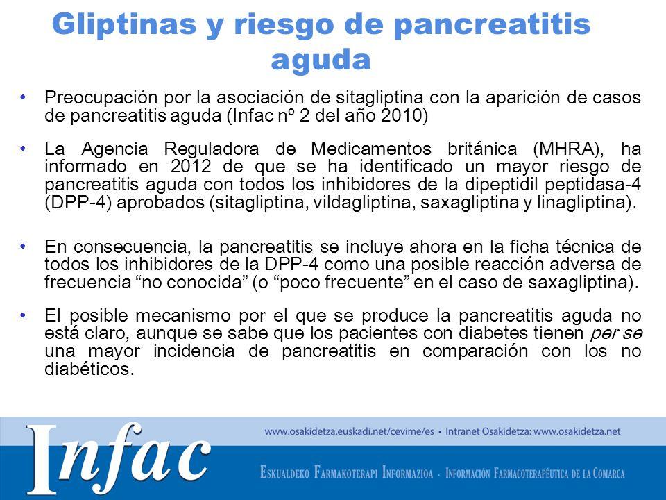 http://www.osakidetza.euskadi.net Preocupación por la asociación de sitagliptina con la aparición de casos de pancreatitis aguda (Infac nº 2 del año 2