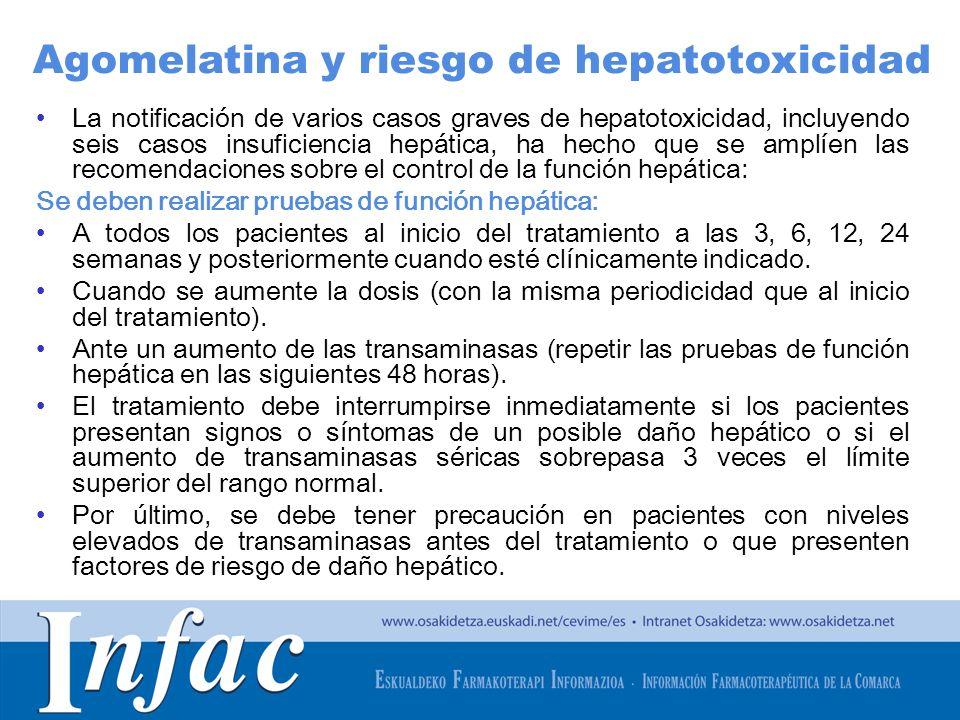 http://www.osakidetza.euskadi.net La notificación de varios casos graves de hepatotoxicidad, incluyendo seis casos insuficiencia hepática, ha hecho qu