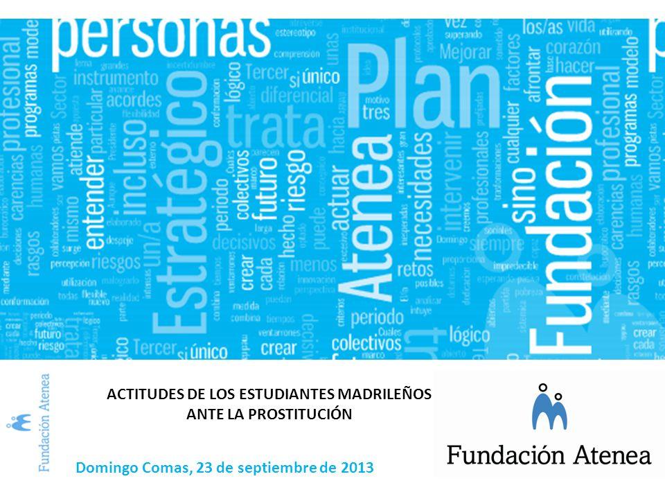 ACTITUDES DE LOS ESTUDIANTES MADRILEÑOS ANTE LA PROSTITUCIÓN Domingo Comas, 23 de septiembre de 2013