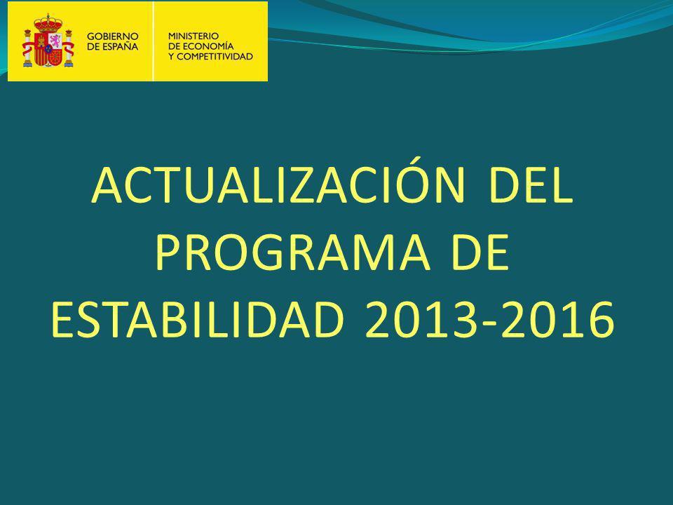 ACTUALIZACIÓN DEL PROGRAMA DE ESTABILIDAD 2013-2016