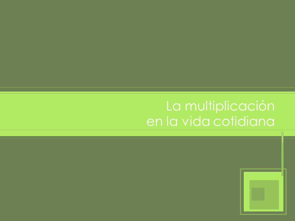 ¿Cuándo usamos la multiplicación en la vida cotidiana.