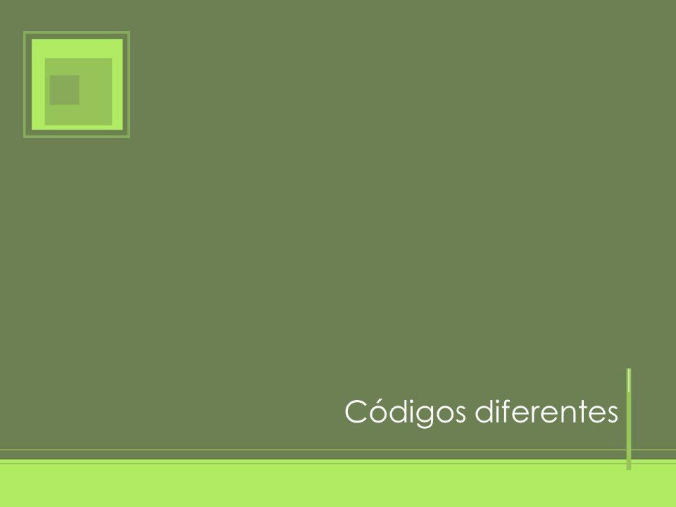 Códigos diferentes