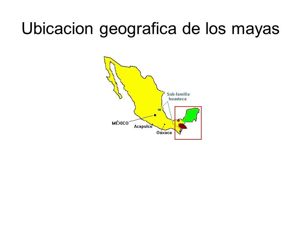 Ubicacion geografica de los mayas