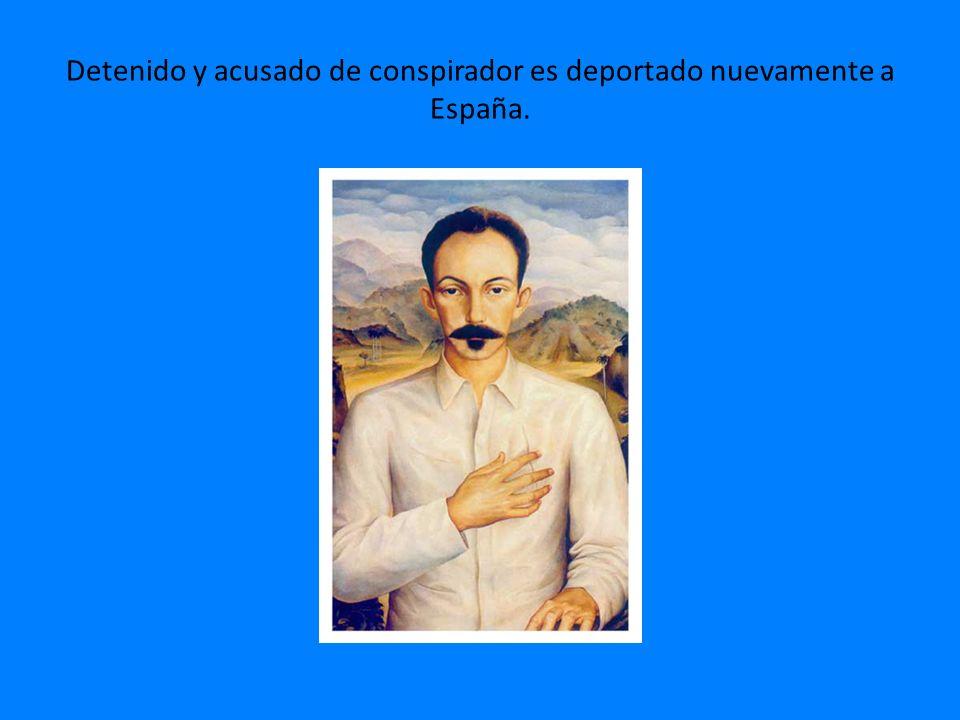Detenido y acusado de conspirador es deportado nuevamente a España.
