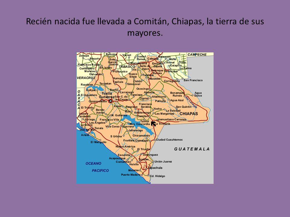Recién nacida fue llevada a Comitán, Chiapas, la tierra de sus mayores.