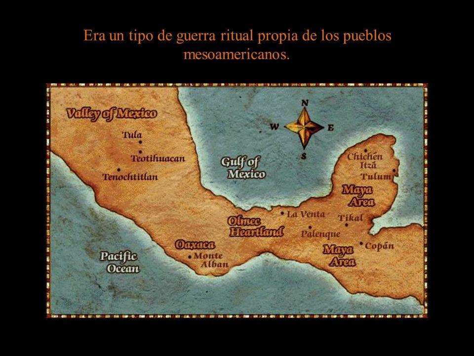 Era un tipo de guerra ritual propia de los pueblos mesoamericanos.