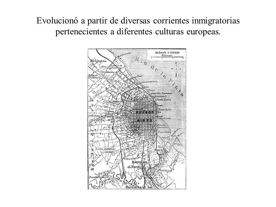 Evolucionó a partir de diversas corrientes inmigratorias pertenecientes a diferentes culturas europeas.