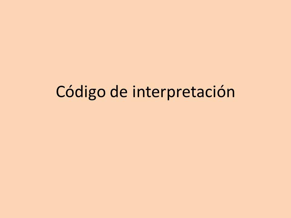 Código de interpretación