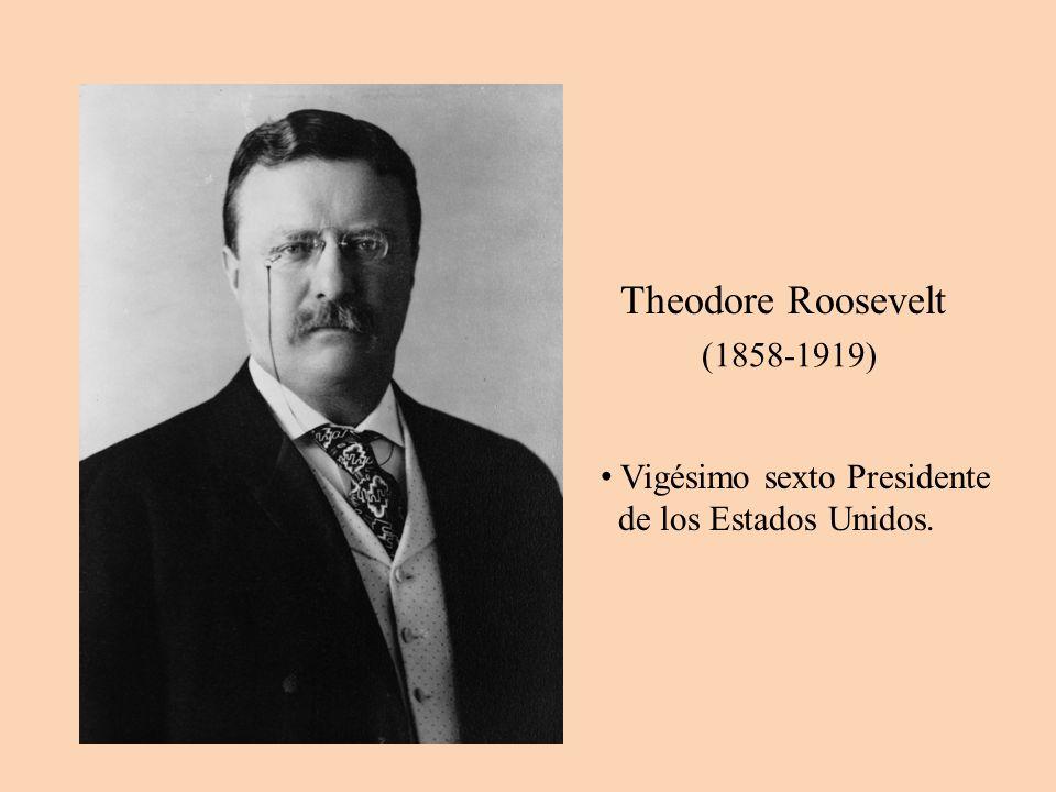 (1858-1919) Theodore Roosevelt Vigésimo sexto Presidente de los Estados Unidos.