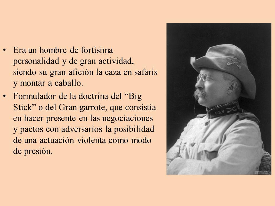 Instituyó un corolario a la doctrina del presidente Monroe ( América para los americanos).