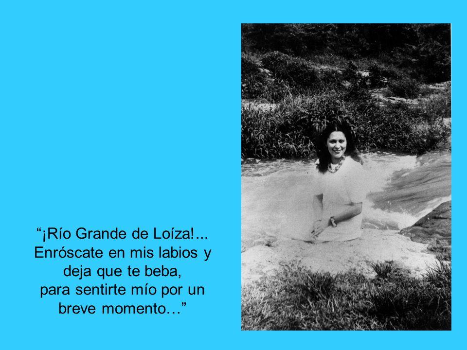 ¡Río Grande de Loíza!... Enróscate en mis labios y deja que te beba, para sentirte mío por un breve momento…