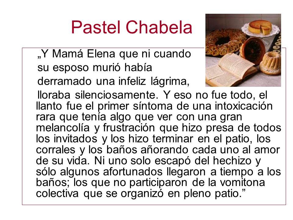 Pastel Chabela Y Mamá Elena que ni cuando su esposo murió había derramado una infeliz lágrima, lloraba silenciosamente. Y eso no fue todo, el llanto f