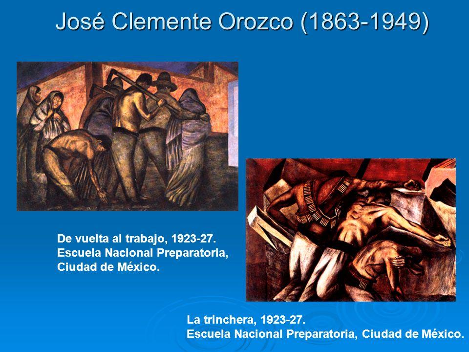 José Clemente Orozco (1863-1949) De vuelta al trabajo, 1923-27. Escuela Nacional Preparatoria, Ciudad de México. La trinchera, 1923-27. Escuela Nacion