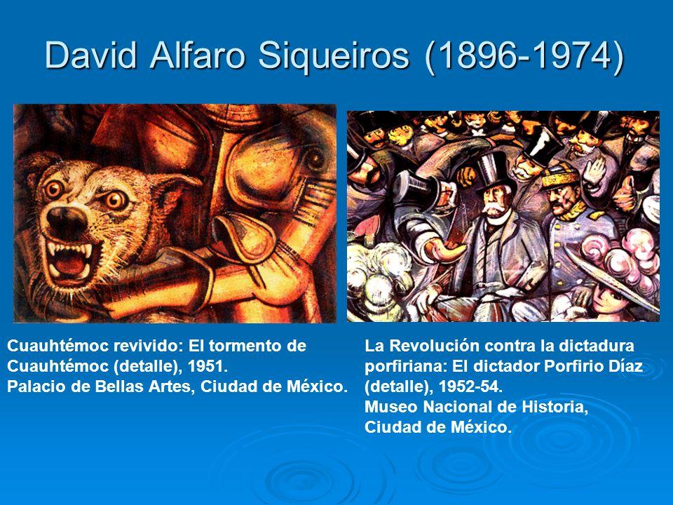 David Alfaro Siqueiros (1896-1974) Cuauhtémoc revivido: El tormento de Cuauhtémoc (detalle), 1951. Palacio de Bellas Artes, Ciudad de México. La Revol