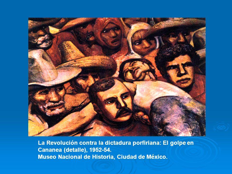La Revolución contra la dictadura porfiriana: El golpe en Cananea (detalle), 1952-54. Museo Nacional de Historia, Ciudad de México.