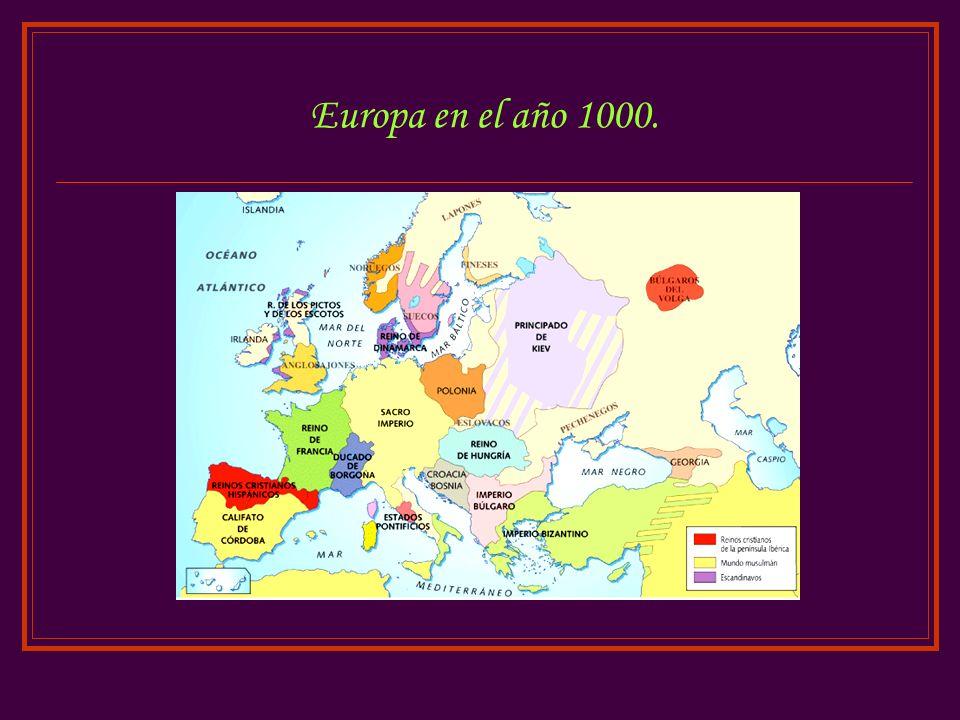 Europa en el año 1000.