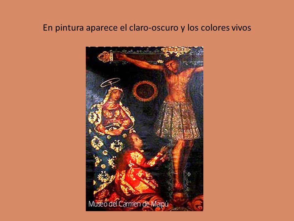 En pintura aparece el claro-oscuro y los colores vivos