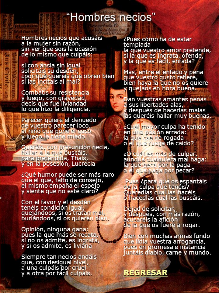 ¿Qué quería decir Sor Juana.