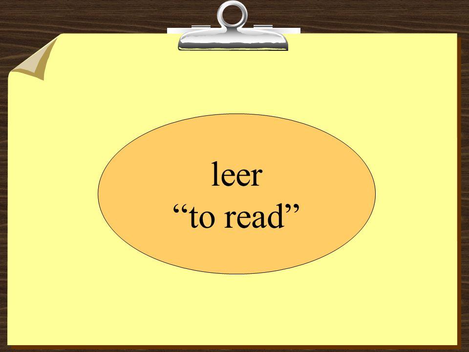 Isabel __________ el correo electrónico de Ricardo. leo lees lee leemos leen