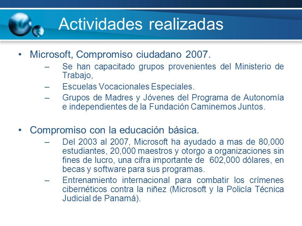 Actividades realizadas Microsoft, Compromiso ciudadano 2007.