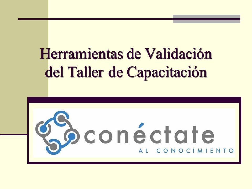 Herramientas de Validación del Taller de Capacitación