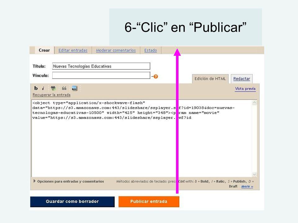 6-Clic en Publicar
