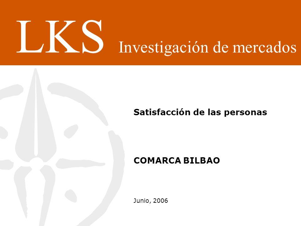Satisfacción de las personas COMARCA BILBAO Junio, 2006 LKS Investigación de mercados