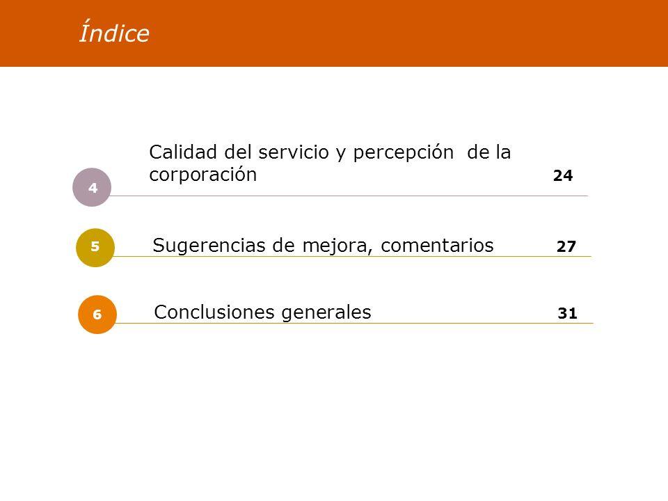 COMARCA BILBAO Satisfacción de las personas 2006 25 Calidad del servicio