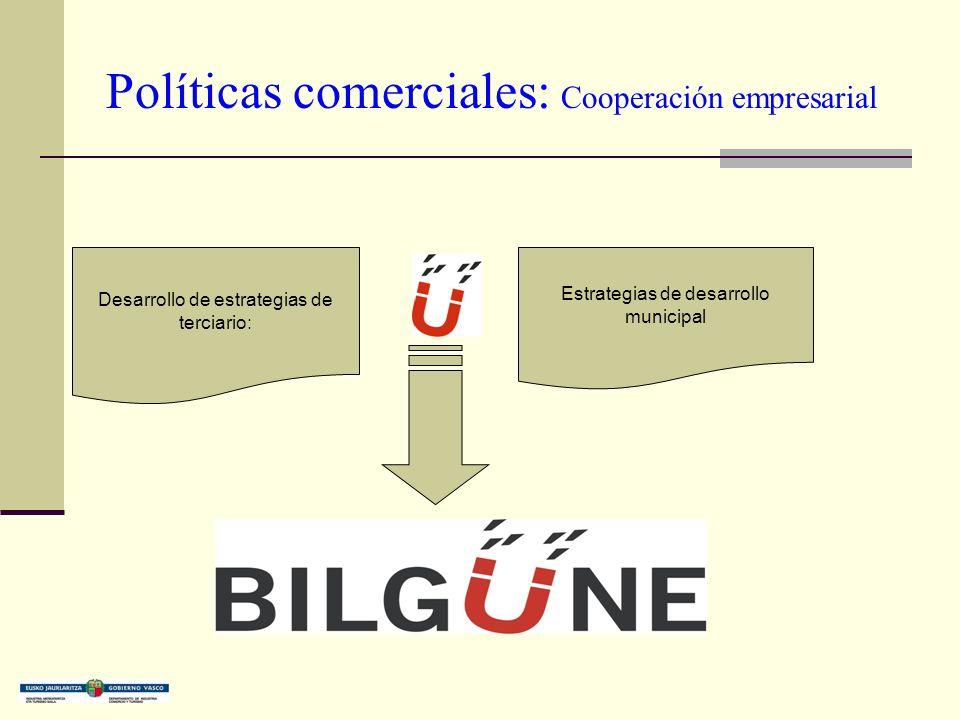 Políticas comerciales: Cooperación empresarial Desarrollo de estrategias de terciario: Estrategias de desarrollo municipal