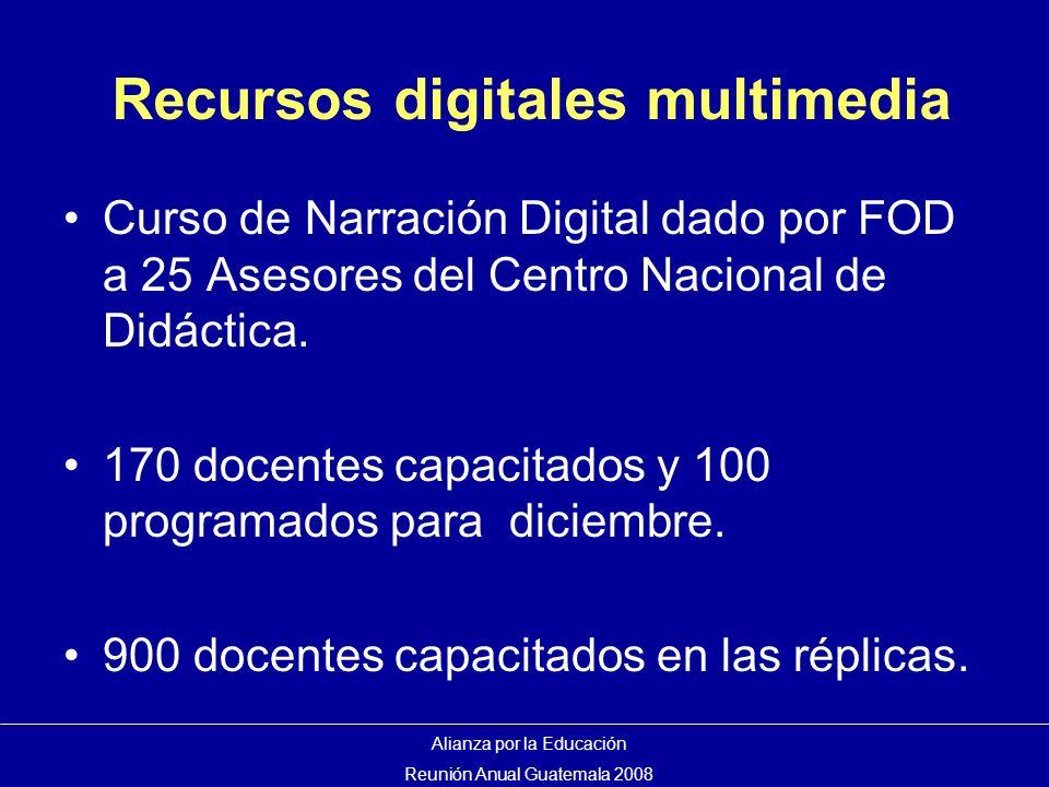 Recursos digitales multimedia Curso de Narración Digital dado por FOD a 25 Asesores del Centro Nacional de Didáctica.