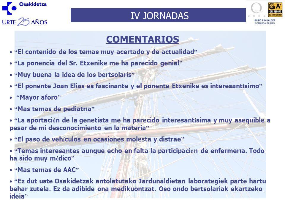 IV JORNADAS VALORACION GLOBAL