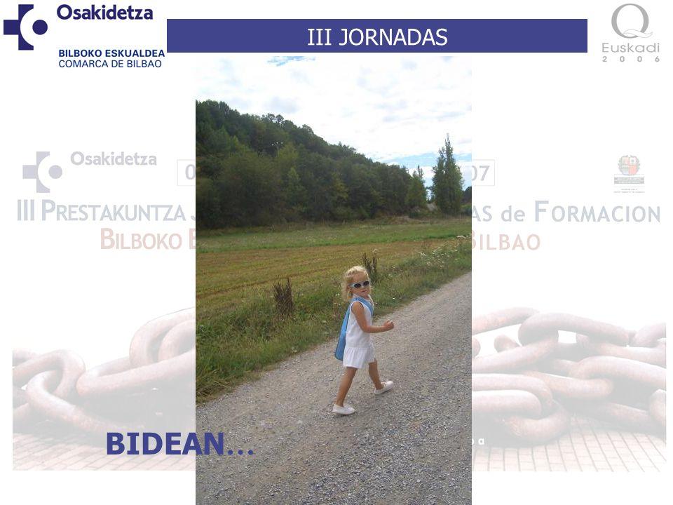 III JORNADAS BIDEAN …