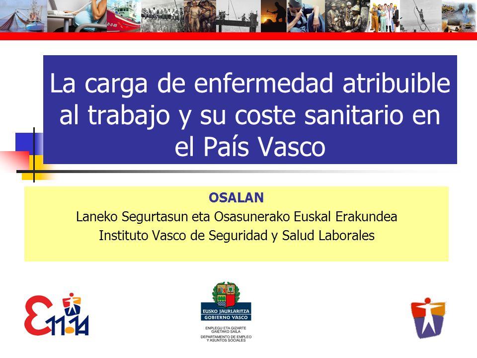 La carga de enfermedad atribuible al trabajo y su coste sanitario en el País Vasco OSALAN Laneko Segurtasun eta Osasunerako Euskal Erakundea Instituto