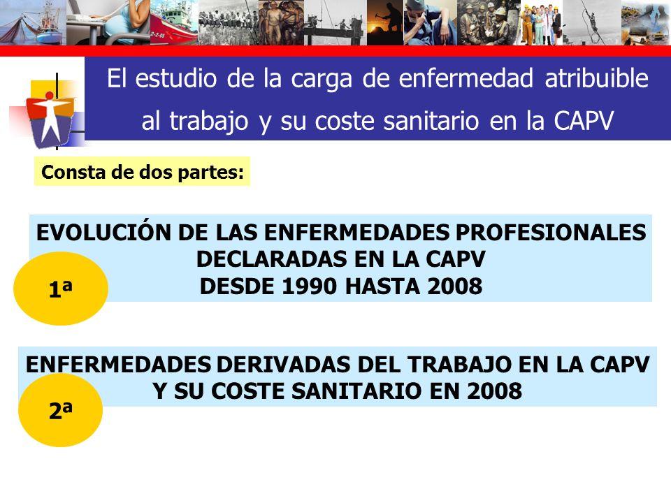 El estudio de la carga de enfermedad atribuible al trabajo y su coste sanitario en la CAPV ENFERMEDADES DERIVADAS DEL TRABAJO EN LA CAPV Y SU COSTE SA
