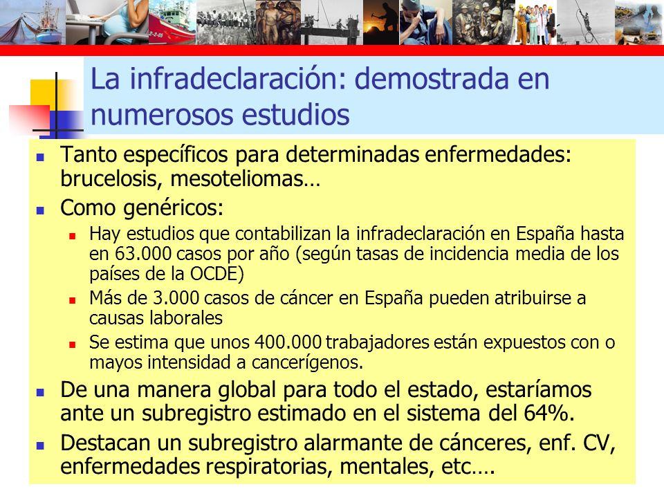 Esta situación conlleva: Desconocer la realidad de la morbilidad y mortalidad de las personas trabajadoras vinculadas a las exposiciones laborales.