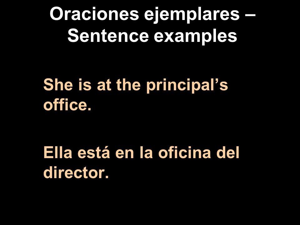 Oraciones ejemplares – Sentence examples We are at the stadium. Nosotros estamos en el estadio.
