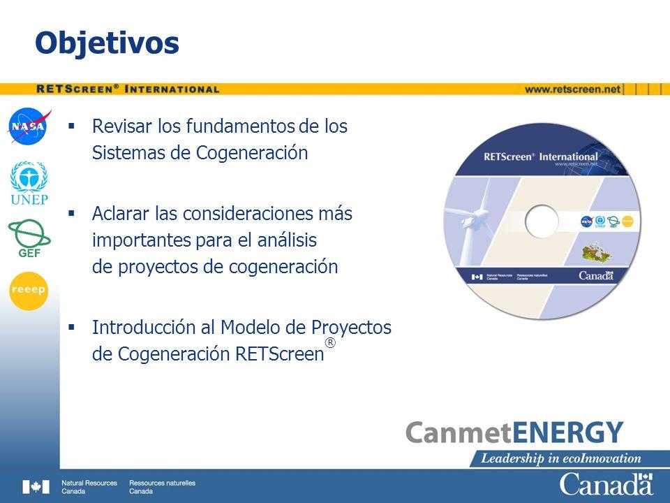 Objetivos Revisar los fundamentos de los Sistemas de Cogeneración Aclarar las consideraciones más importantes para el análisis de proyectos de cogener