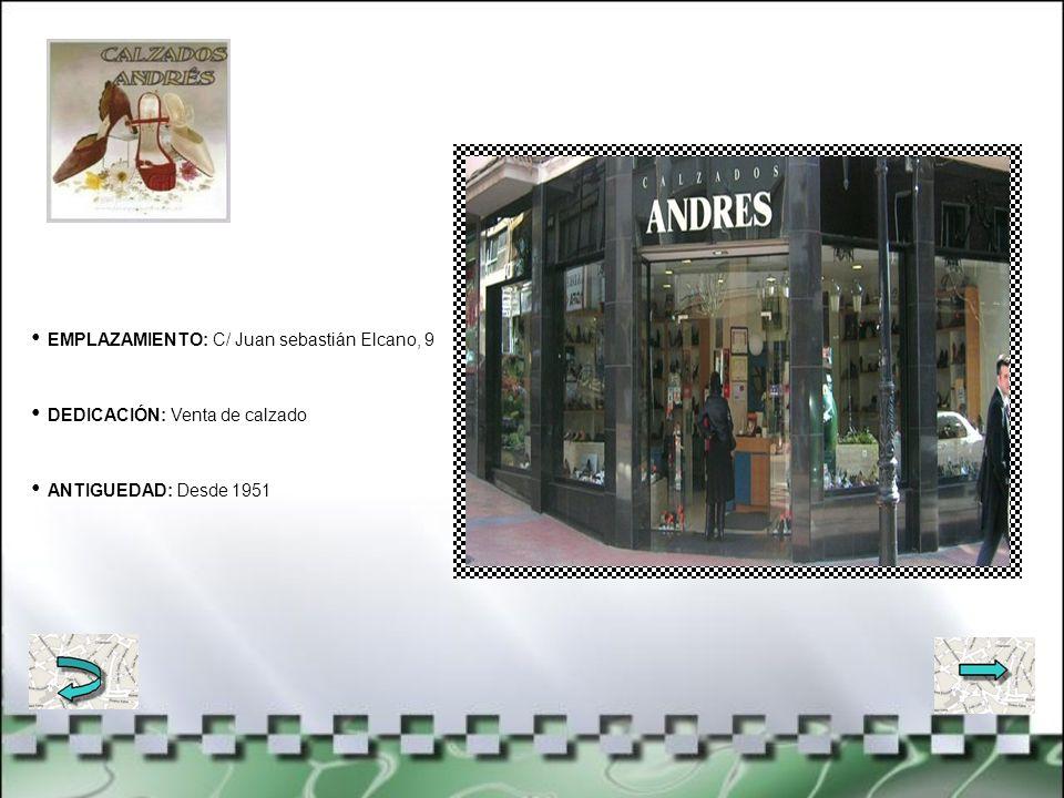 EMPLAZAMIENTO: C/ Juan de Garay, 17 DEDICACIÓN: Joyería y relojería ANTIGUEDAD: Desde 1931