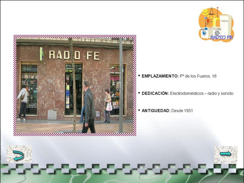 EMPLAZAMIENTO: Avda. Libertad, 23 DEDICACIÓN: Floristería y decoración ANTIGUEDAD: Desde 1972