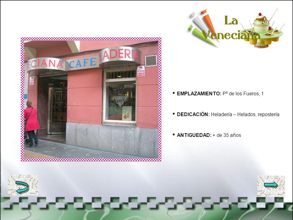 EMPLAZAMIENTO: C/ Nafarroa, 1- lonja DEDICACIÓN: Inmobiliaria - Venta y alquiler de pisos y oficinas ANTIGUEDAD: Desde 1974