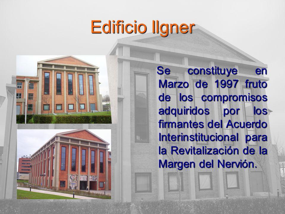 Edificio Ilgner Se constituye en Marzo de 1997 fruto de los compromisos adquiridos por los firmantes del Acuerdo Interinstitucional para la Revitalización de la Margen del Nervión.
