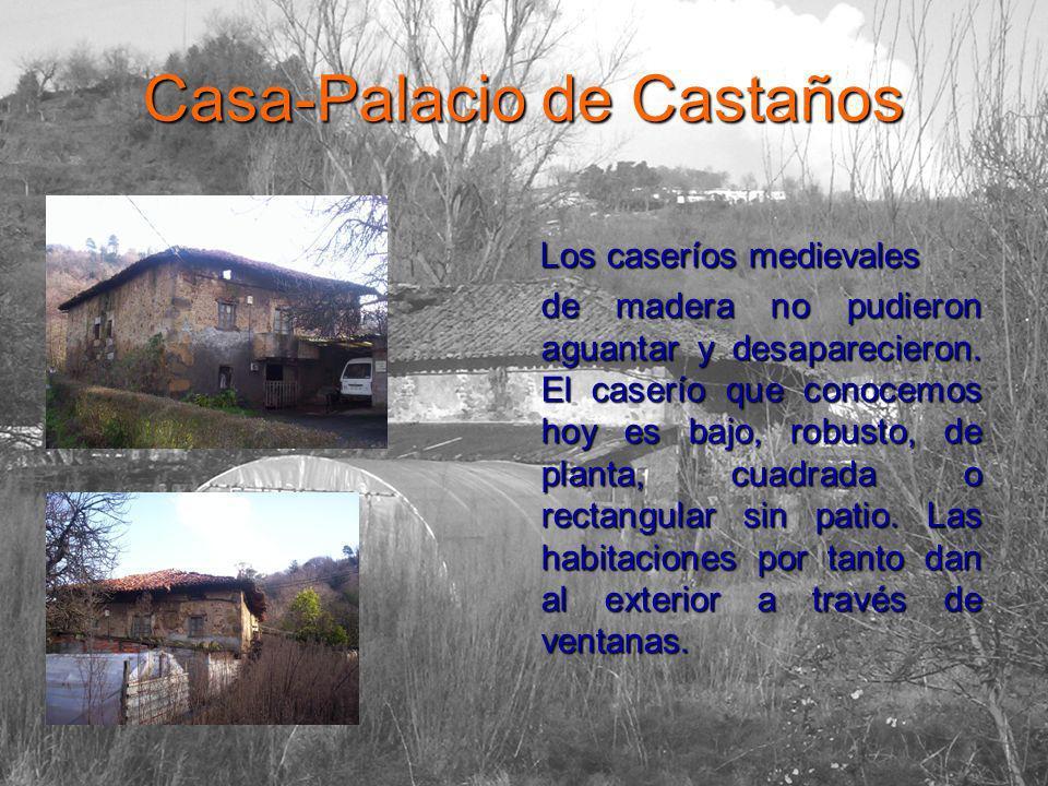 Casa-Palacio de Castaños Los caseríos medievales Los caseríos medievales de madera no pudieron aguantar y desaparecieron.