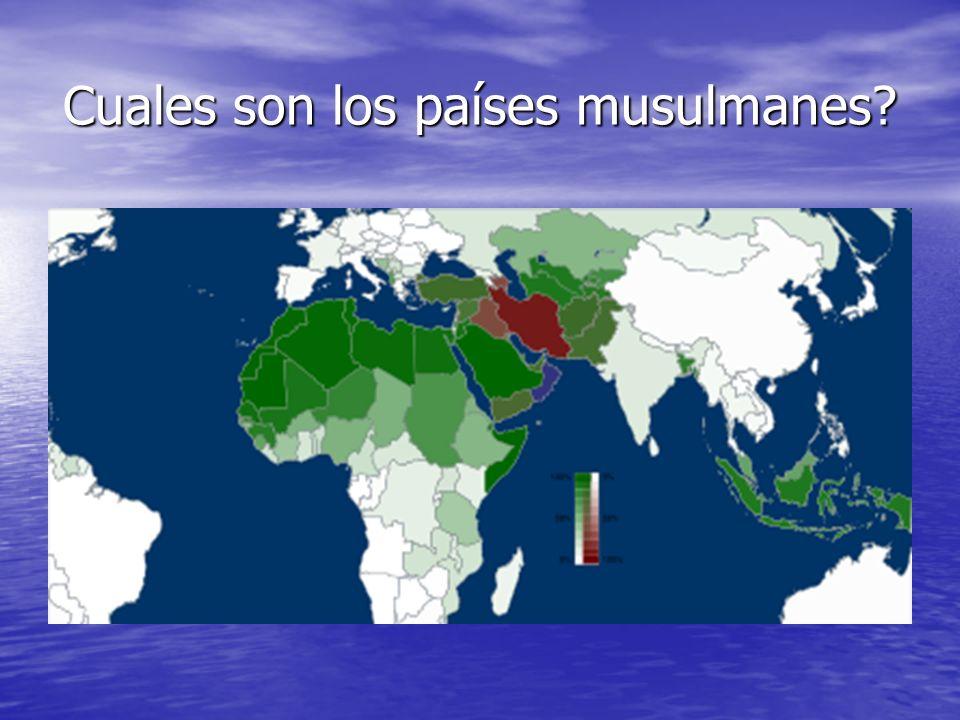 Cuales son los países musulmanes?